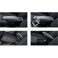 Z Tech Peugeot 207 Kolçak - Araca Özel Siyah