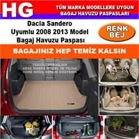Dacia Sandero 2008 2013 Bej Bagaj Havuzu Paspası 38719