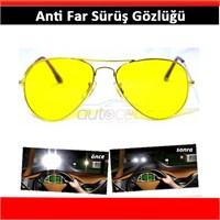 AutoCet Çerçeveli Rayban Model Anti Far GECE Sürüş Gözlüğü 0102a