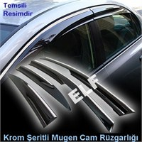 Z tech Opel Astra J Mugen Cam Rüzgarlığı (Krom Şeritli) 2009/2014