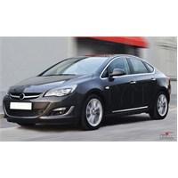 S-Dizayn Opel Astra J (Sd) Kapı Koruma Çıtası Krom P.Çelik + Abs Plastik 8 Prç.