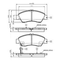 Bosch - Fren Balatası Ön Honda Cıvıc 1,4 - 1.5I 16V, 1.6 16V - Bsc 0 986 Tb2 233