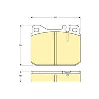 Bosch - Fren Balatası Ön (Vw Lt 28 I Bus (281-363)(04/75-06/96) [Wva 20280] - [ 89,7X73,8X18,5 Mm ] - - Bsc 0 986 Tb2 474