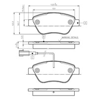 Bosch - Fren Balatası Ön Palio-Albea-Doblo-Fiorino-Nemo-Bipper-Linea-Punto 1.3 M.Jet 1.6 Kablolu - Bsc 0 986 Tb2 836