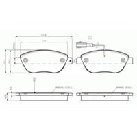 Bosch - Fren Balatası Ön İkaz Kablolu (Fıat :Grande Punto (199) 1.3 Multıjet, 1.9Multıjet (10/2005-) - Bsc 0 986 Tb2 961