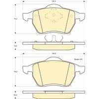 Bosch - Fren Balatası Ön (Seat Alhambra (7V8) [Wva 21911] - [ 156,4X74,2X20,3/19,5 Mm ] - - Bsc 0 986 Tb2 672