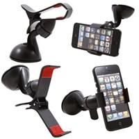 Kıskaçlı Vantuzlu Araç İçi Telefon Tutucu
