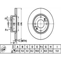 Bosch - Fren Diski Ön Cıtroen C15-Saxo (96-04)-Vısa-Zx (91-97)-Peugeot 106 96>-205-306 (93-01)-309-405 - Bsc 0 986 478 046