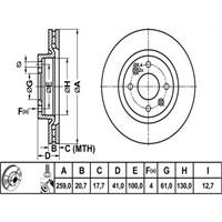 Bosch - Fren Diski Ön Büyük Tip Clio I-Iı-Kangoo-Megane I-R19-Thalıa-Logan-Sandero - Bsc 0 986 478 124