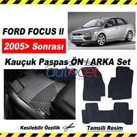 Ford Focus II Kauçuk Ön / Arka Araca Özel Paspas Seti 3557a