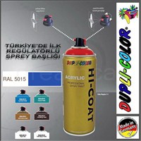 Dupli-Color Hi-Coat Ral 5015 Parlak Açık Mavi Akrilik Sprey Boya 400 Ml. Made in Germany 406461