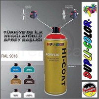 Dupli-Color Hi-Coat Ral 9016 Parlak Trafik Beyaz Akrilik Sprey Boya 400 Ml. Made in Germany 406270