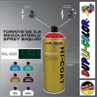 Dupli-Color Hi-Coat Ral 6005 Parlak Yosun Yeşili Akrilik Sprey Boya 400 Ml. Made in Germany 406300