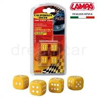 Pilot California Dices Sarı Sibop Kapağı 4'lü Set 02462