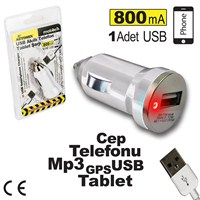 Automix Usb Çakmak Girişli Telefon Ve Tablet Şarjı