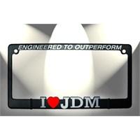 JDM Logo Kare Plakalık Kırmızı 14434