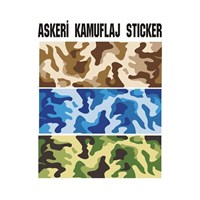 Sticker Masters Askeri Kamuflaj Sticker
