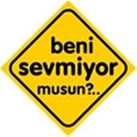 Dreamcar Vantuzlu Amblem ''BENİ SEVMİYOR MUSUN?'' (Cam Yüzeylere Yapıştırılabilir.) 3300747