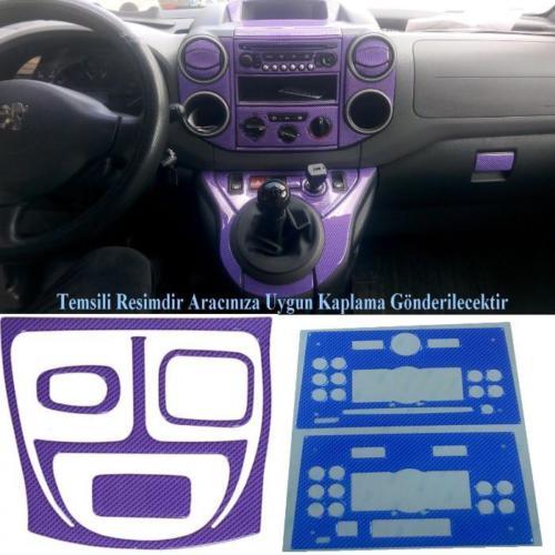 Demircioğlu Peugeot Partner 1996 - 2003 Arası 14 Parça Bordo Mavi Torpido Kaplama