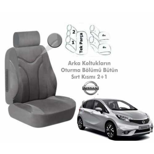 Süslenoto Nissan Note Hb 2013 Ve Sonrası Gri Oto Koltuk Kılıfı Ortopedik