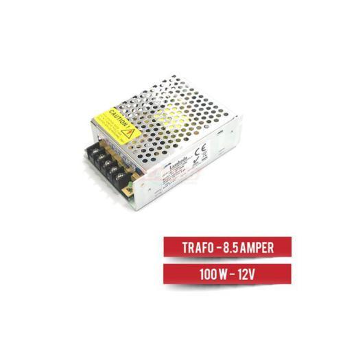 Lambada Adaptör-Trafo 8.5 Amper 100W 220 Den 12V