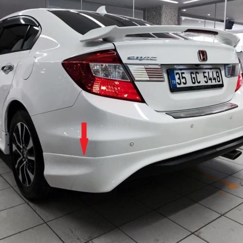 Civic Honda 2012- Sonrası Modulo Arka Tampon Eki - Boyalı