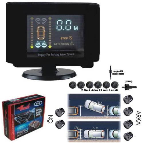 Rotacar Ön Arka Park Sensörü Digital VFD Ekranlı