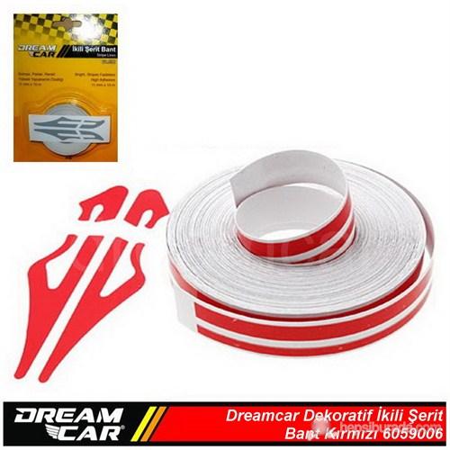 Dreamcar İkili Şerit Bant Kırmızı 10 M. 6059006