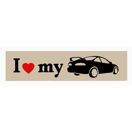 """Z tech """" I Love My """" Bej Siyah Sticker 15 x 4 cm"""