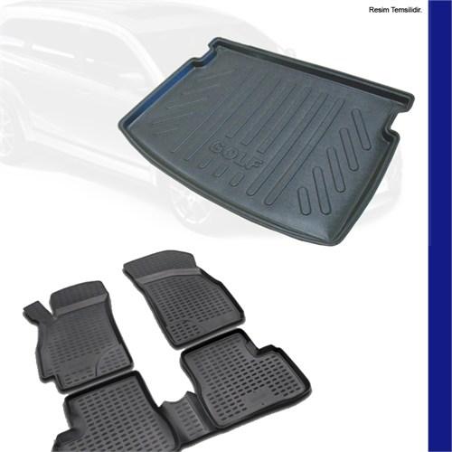 Ford Focus 3 Hb Bagaj Havuzu (Kalın Stepne) & 3D Paspas 2011-14