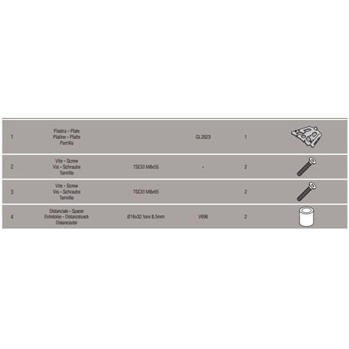Kappa Kra5103 Bmw F650gs - F800gs (08-15) - F700gs (13-15) F800gs Adv. (13-15) Arka Çanta Tasıyıcı