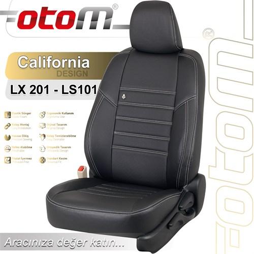 Otom Audı A6 2014-Sonrası California Design Araca Özel Deri Koltuk Kılıfı Siyah-106