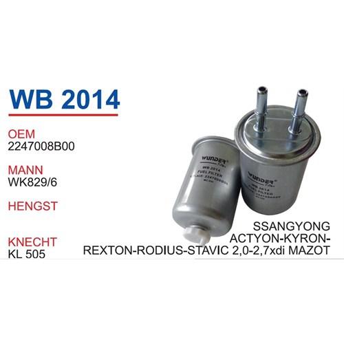 Wunder Ssangyong Kyron 2.0-2.7Xdı Mazot Filtresi Oem No:2247008B00