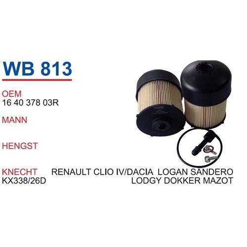 Wunder Renault Clio 4 Kasa Mazot Filtresi Oem No:164037803R