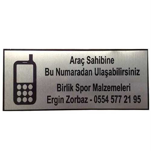 B-Sport Araç İletişim Plakası-Levhası