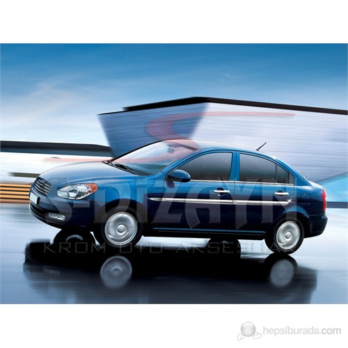 S-Dizayn Hyundai Accent/Era Yan Kapı Çıtası 4 Prç. P.Çelik (2006>)