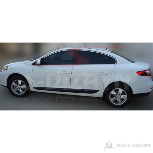 S-Dizayn Renault Fluence Cam Çerçeve Seti 8 Prç. P.Çelik (2010>)