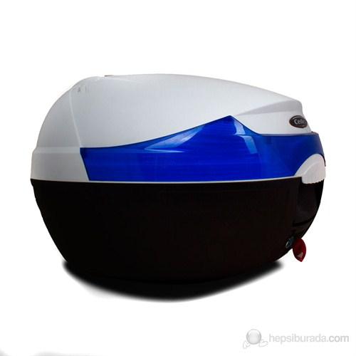Cedex T10 Motosiklet Reflektörlü Arka Çanta Beyaz 32 lt.