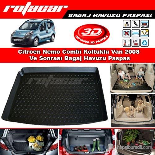 Citroen Nemo Combi Koltuklu Van 2008 Ve Sonrası Bagaj Havuzu Paspası BG032