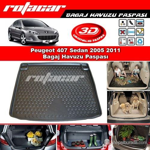 Peugeot 407 Sedan 2005 2011 Bagaj Havuzu Paspası BG0145