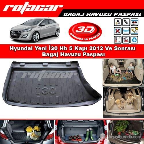 Hyundai Yeni İ30 Hb 5 Kapı İnce Stepneli 2012 Ve Sonrası Bagaj Havuzu Paspası