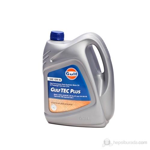 Gulf Tec Plus 10W/40 4 Lt. Kısmi Sentetik Motor Yağı (Benzinli)