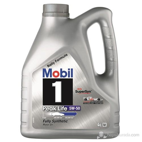 Mobil 1 Peak Life 5W-50 4lt Benzinli Dizel LPG Motor Yağı