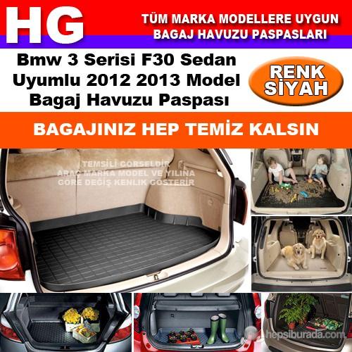 Bmw 3 F30 2012 2013 Siyah Bagaj Havuzu Paspası 38622