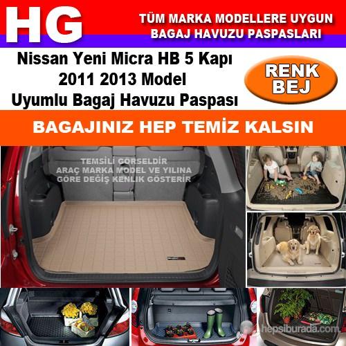 Nissan Yeni Micra 2011 2013 Bej Bagaj Havuzu Paspası 38940