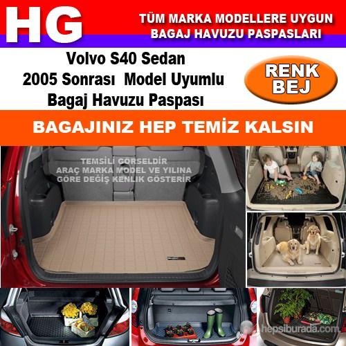 Volvo S40 Sedan 2005 Sonrası Bej Bagaj Havuzu Paspası 39159