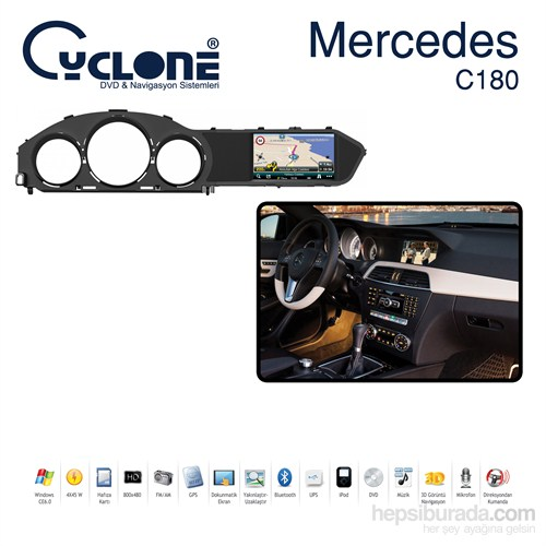 Cyclone MERCEDES BENZ AMG DVD ve Multimedya Sistemi (Orj. Anten ve Kamera Hediyeli)