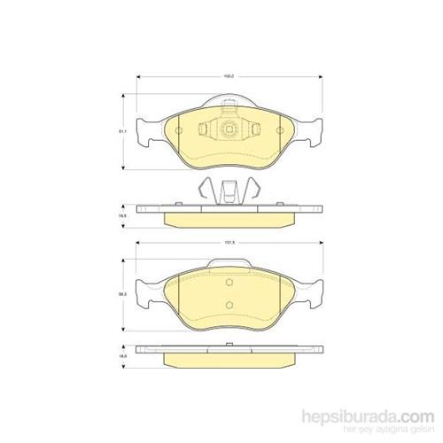 Bosch - Fren Balatası Ön Fıesta Absli 00>Fusıon 02>Mazda 121 96>Mazda 2 03> - Bsc 0 986 Tb2 812