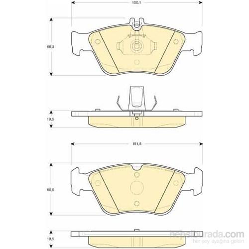 Bosch - Fren Balatası Ön (Mb C Serısı (W202) (03/93-05/00) [Wva 21664] - [ 150,1/151,5X66,3/60X19,5 Mm ] - - Bsc 0 986 Tb2 033