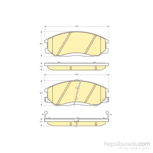 Bosch - Fren Balatası Ön (Hyundaı Trajet (Fo)(03/00-) [Wva 23571] - [ 149X58x17,0/17,4 Mm ] - İkaz Kablolu - Bsc 0 986 Tb2 815